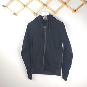 Adidas black zip up hoodie all mesh net Small